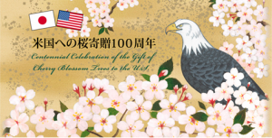 Symbol-of-US-Japanese-Friendship.-Bald-eagle-and-Japanese-cherry-tree